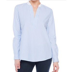 Premise Studio Striped Popover Blouse Shirt